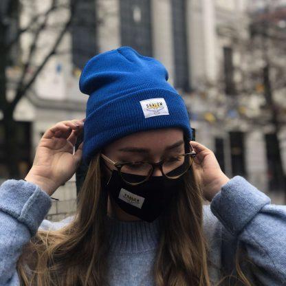 shalom čiapka modrá
