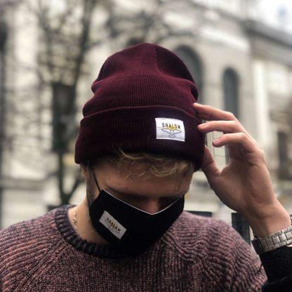 shalom čiapka bordová