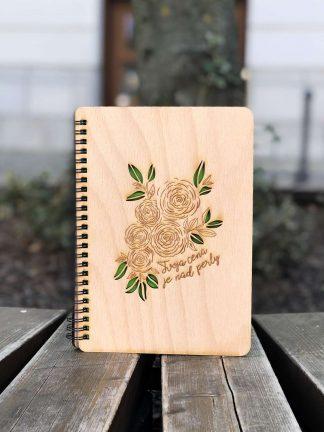 drevený zápisník tvoja cena je nad perly