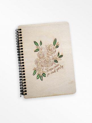 Drevený zápisník - Tvoja cena je nad perly